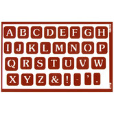 Wedding Font Alphabet Reusable Etching Stencils